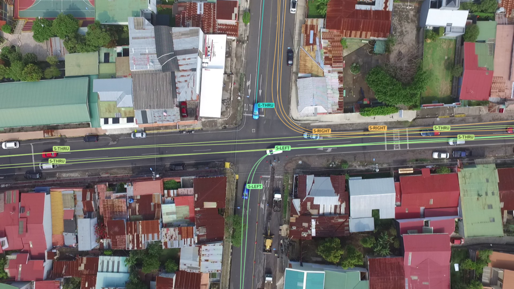 An example of drone-based car trajectories,Fireseeds North Infrastructure