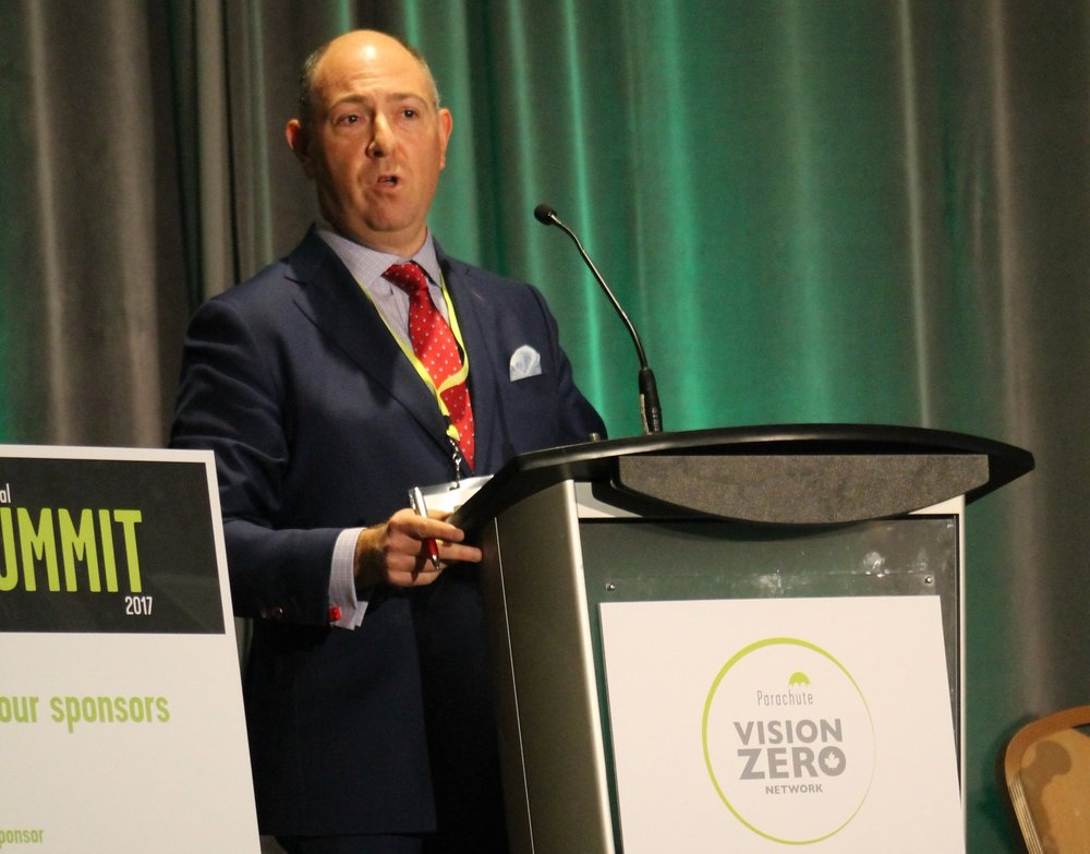 Ed Prutschi presenting at the 2nd Annual Parachute Vision Zero Network Summit, Oct 17-2017