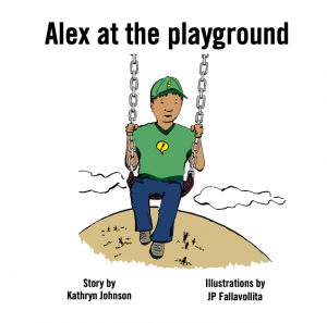 child on swings picture book cover