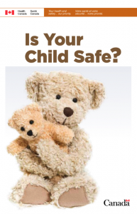 Report cover shows larger teddy bear holding a small teddy bear with title, Is Your Child Safe?