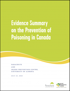 Cover of Evidence Summary on the Prevention of Poisoning in Canada